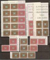 1963 Italia Italy Repubblica EUROPA CEPT EUROPE 20 Serie Di 2v. MNH** In 4 Blocchi - Europa-CEPT