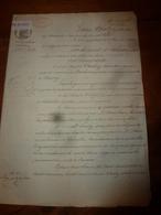 1836 Acte Notarié Manuscrit Sous Le Roi Louis Philippe (cachet Sec Et Cachet Mouillé) Concerne Nicolas Vachez Bourrelier - Manuscrits