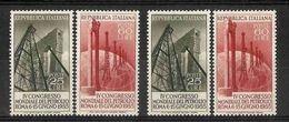 1955 Italia Italy Repubblica PETROLIO PETROLEUM OIL 2 Serie Di 2v.  MNH** - Pétrole