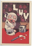 Bonzo : Bonzo's Luv (nostalgia 1920) Origine Anglaise Publié Chez Fantasio Mickey.... Comic's Cp Double Vierge - Comics