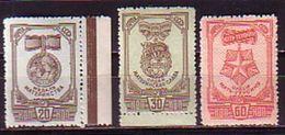 RUSSIA - UdSSR - 1945 - Ordens Et Medalles - 3v ** Dent. - 1923-1991 URSS