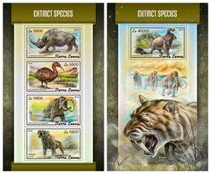 SIERRA LEONE 2018 - Extinct Species. M/S + S/S Official Issue. - Préhistoriques