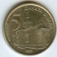 Serbie Serbia 5 Dinara 2003 KM 36 - Serbie