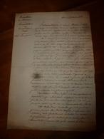 1824 Longue Diatribe D'un Conseiller D'Etat Au Préfet Au Sujet Des Abus Et Tricheries Des Géomètres Fonciers - Manuscrits