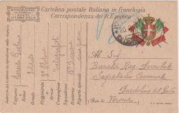 1917 POSTA MILITARE/15 DIVISIONE C2 (20.2) Su Cartolina Franchigia - 1900-44 Victor Emmanuel III