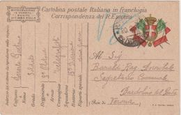 1917 POSTA MILITARE/15 DIVISIONE C2 (20.2) Su Cartolina Franchigia - Storia Postale