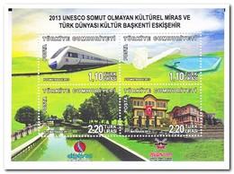 Turkije 2013, Postfris MNH, Trains - Ongebruikt