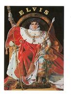 """ILLUSTRATEUR . ELVIS PRESLEY . """" THE KING """" PAR N. WILSON . ÉDITION NUGERON - Réf. N°18382 - - Chanteurs & Musiciens"""