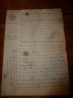 1835 Manuscrits Notariés Avec Cachets,à CHATILLON Concernant -->Bondeveau, Laurent-Sauvages,Nicolas Bessey Instituteur - Manuscrits