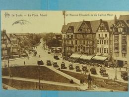 Le Zoute La Place Albert Et L'Avenue Elisabeth Vu Du Carlton Hôtel - Knokke