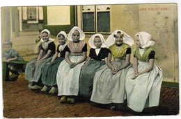 """Zeeland, Klederdracht, Zeeuws, """"zes Vrijsters""""  (pk44125) - Costumes"""
