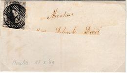 Belgique N°6 10C Fil Simple /lettre Partielle D50 De BARRY-MAULDE 27/10/53 Ex (SM) Pour Marges Voir Les Scans RRR - 1851-1857 Medaglioni (6/8)