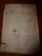 1840 Liasse De Manuscrits Notariés Avec Cachets (sec ,mouillés) Concerne Baillieux,Regnault à Mussy-su- Seine, Etc - Manuscrits