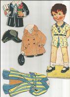 ANCIENNE  POUPÉE CARTON Et TROUSSEAUX DÉCOUPAGES 1940 - Children