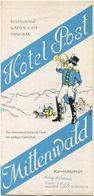 Deutschland - Mittenwald 1954 - Hotel Post - Faltblatt Mit 9 Abbildungen - Tourism Brochures