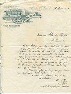 LETTRE-GRAND HOTEL DE LA PAIX-VILLE MARGUERITE- LAMALOU-LES-BAINS- 1905 - Deportes & Turismo