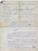 63 - HERMENT - CAPTAGE EAU à HERMENT - Entreprise DEMENJON à Grenoble - 1922 - Clauses Du Contrat - France