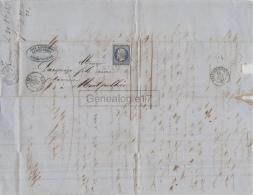 26 1797 ROMANS DROME 1855 Lettre Affranchie AUGUSTE GARA Dest LARGUEZE De MONTPELLIER - France
