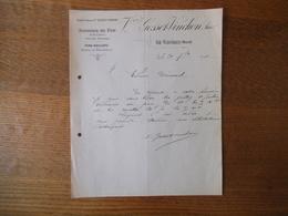 LE CATEAU NORD Vve GOSSET-VINCHON FONDERIE DE FER ET DE CUIVRE FERS-BOULONS COURRIER DU 30 7bre 1912 - France