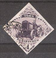 TUVA / Touva, Russia / Russie,1934,Yvert N° 42, Registered 4 K Brun Violet TRACTEUR / TRACTOR  NON DENTELE, Obl, TB - Tuva