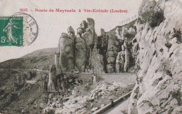 EP 18 -  (48)   ROUTE DE MEYRUEIS A SAINTE ENIMIE  -  2 SCANS - Meyrueis