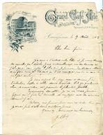 LETTRE-GRAND CAFÉ ADE- CARCASSONNE- 1902- - Deportes & Turismo