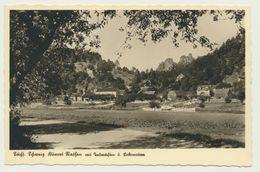 AK  Dampfer In Rathen Mit Talwächter Und Lokomotive - Rathen
