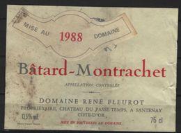 Batard Montrachet 1988 De  René Fleurot - Bourgogne