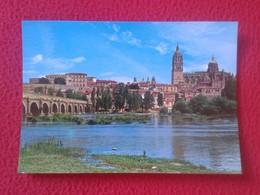 POSTAL POST CARD POSTCARD CARTE POSTALE SPAIN ESPAGNE CASTILLA LEÓN SALAMANCA VISTA PARCIAL PUENTE ROMANO Y CATEDRAL VER - Salamanca