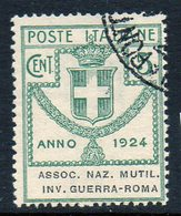 ITALY : T117  -  1924   5 C.  Used : Sass. N. 5  -  Sassone  € 25 - 1900-44 Victor Emmanuel III.