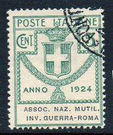 ITALY : T117  =  1924   5 C.  Used : Sass. N. 5  -  Sassone  € 25 - Versichert
