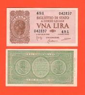 1 Lira 14/11/1939 Serie Imperiale  Regno Italia Bolaffi Cavallari Giovinco - Italia – 1 Lira