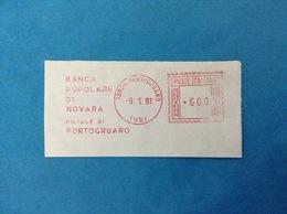 1981 ITALIA AFFRANCATURA MECCANICA ROSSA EMA RED - BANCA POPOLARE DI NOVARA FILIALE DI PORTOGRUARO - Affrancature Meccaniche Rosse (EMA)