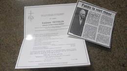 DOODSBRIEF FALDONIE TETTELIN BAUWENS LOKEREN WOLTERTEM D2855 - Religion & Esotérisme