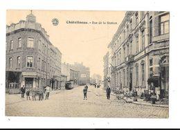Chatelineau  ( M 3324 )  Vieille Tram Dans La Rue Et 2 Jeunes  Avec Attelage Et Chiens - Charleroi