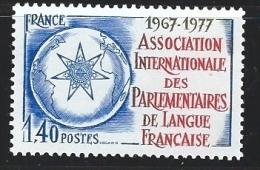 """FR YT 1945 """" Parlementaires De Langue Française """" 1977 Neuf** - France"""