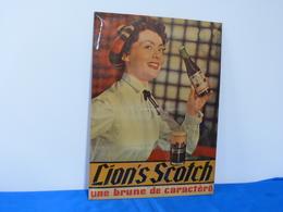 """Plaque Métal """"BIERE LION'S SCOTCH"""" - Liquor & Beer"""
