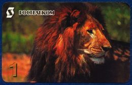 RUSSIA - RUSSIE - RUSSLAND - RUSIA ROSTELECOM PRE-PAID CARD 30 UNITS FAUNA ANIMALS WILDLIFE LION GOOD CONDITION - Russia