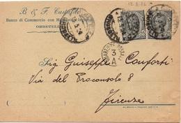 TESTATINE - ORBETELLO Per FIRENZE 13.3.1924 - Cartolina Postela PRIVATA 30c. Leoni 10/37 - 1900-44 Vittorio Emanuele III