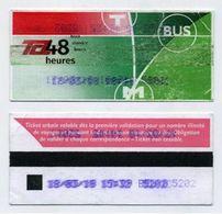 Ticket De Bus 48 Heures Lyon 69 Rhône 2018 - Bus