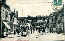 N°4058 A -cpa Ste Gauburge -carrefour St Jacques Jour De Marché- - France