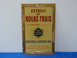 """Plaque Métal """"EXTRAIT DE KOLAS FRAIS"""" - Alimentaire"""