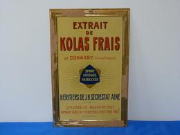 "Plaque Métal ""EXTRAIT DE KOLAS FRAIS"" - Food"