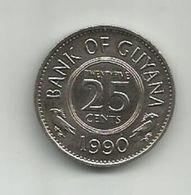 Guyana 25 Cents 1990. - Guyana