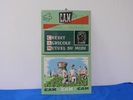 """Plaque Métal - Porte Courrier  """"CREDIT AGRICOLE MUTUEL DU MIDI"""" - Plaques Publicitaires"""