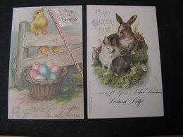 Oster 2 Alte Karten 1901 - Ostern