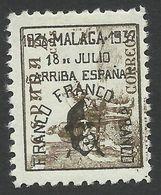 Spain, Malaga 5 C. 1937, Mi # 25, MH, Black Overprint - Nationalistische Ausgaben