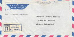 THAILAND - REGISTERED AIR MAIL 1965 PHRAKHANONG -> GENEVA/SUISSE - Tailandia