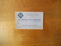 SOCIETE DE GYMNASTIQUE ET DE PREPARATION MILITAIRE LA SAINTE-MAXELLENDE PASSAGE THIERS CAUDRY CARTE MEMBRE BIENFAITEUR 1 - Historische Documenten