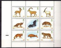 Arabain ANIMALS Saudi Arabia Stamp Animals MINI Sheets 9 Stamps  Collection Items MNH - Stamps